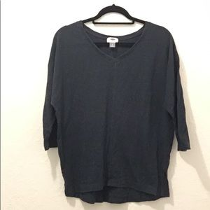 Old navy navy 3/4 sleeve shirt